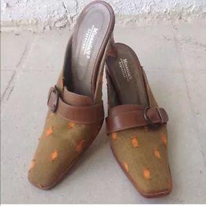 Vintage Minassian Argentina Mules 6.5 Heel Slip On
